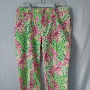 Lilly Pulitzer Capris Size 10 Butterfly Sequined